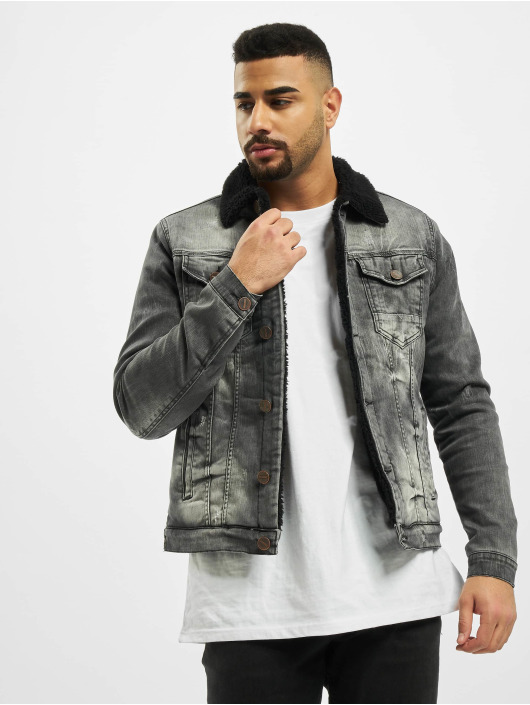 Cipo & Baxx Giacca Jeans Patch grigio