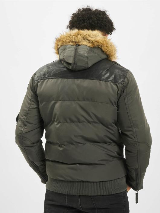 Cipo & Baxx Manteau hiver Bomber kaki