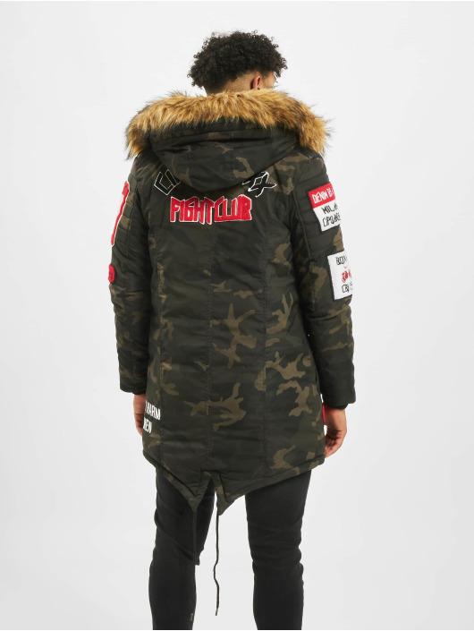 Cipo & Baxx Manteau hiver Fur kaki