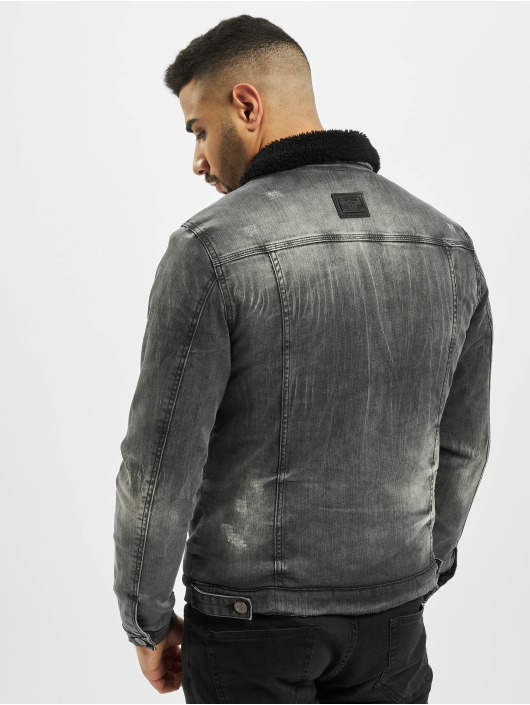Cipo & Baxx Spijkerjasjes Patch grijs
