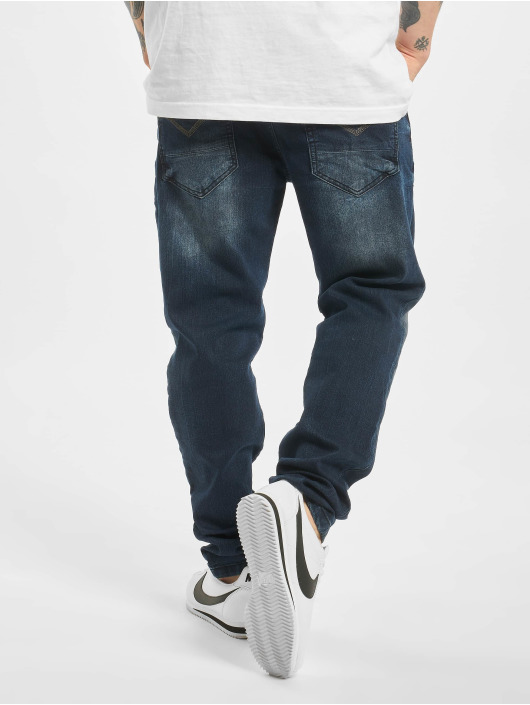 Cipo & Baxx Straight Fit Jeans Stone Washed blå