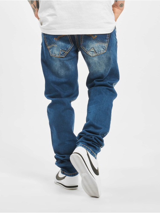 Cipo & Baxx Straight Fit Jeans Stone Washed blau