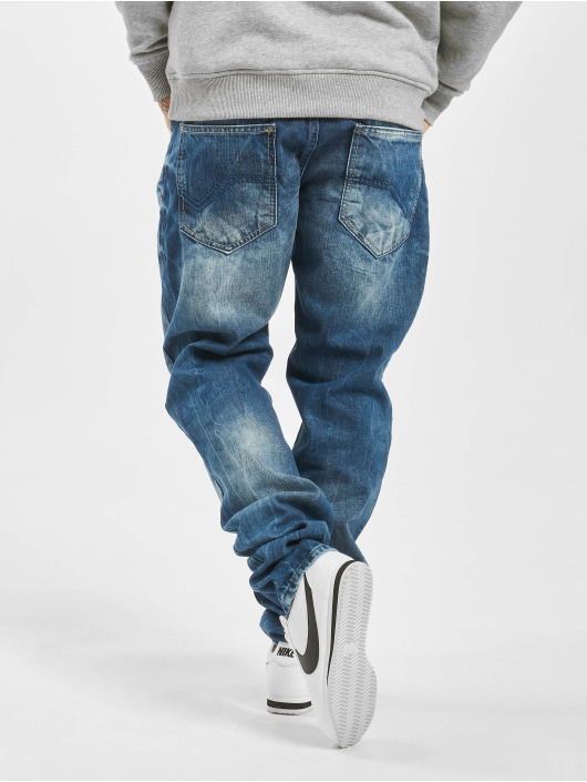 Cipo & Baxx Straight fit jeans Stone Washed blauw