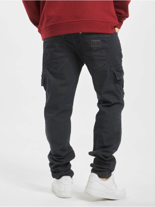 Cipo & Baxx Straight fit jeans Cargo blauw