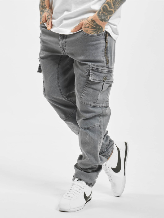 Cipo & Baxx Straight fit jeans Cargo grijs