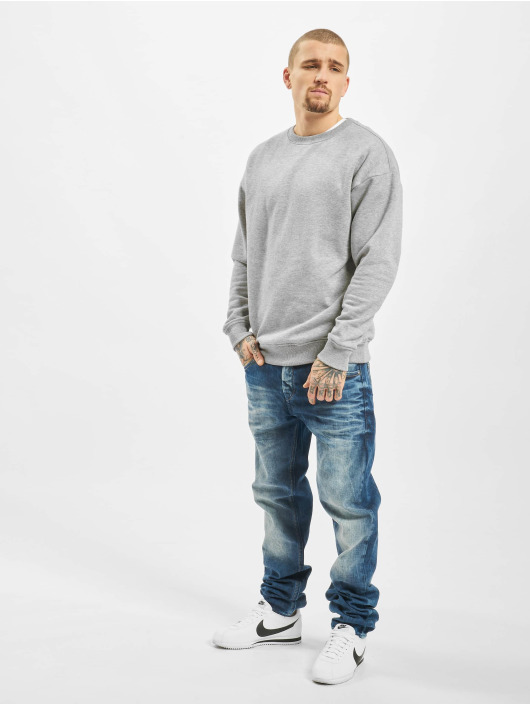 Cipo & Baxx Straight Fit Jeans Stone Washed modrý