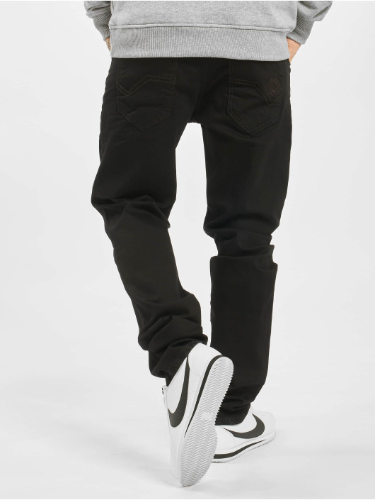 Cipo & Baxx Straight fit jeans Plain zwart