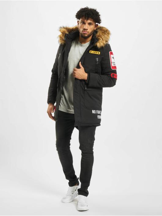 Cipo & Baxx Vinterjakke Fur svart