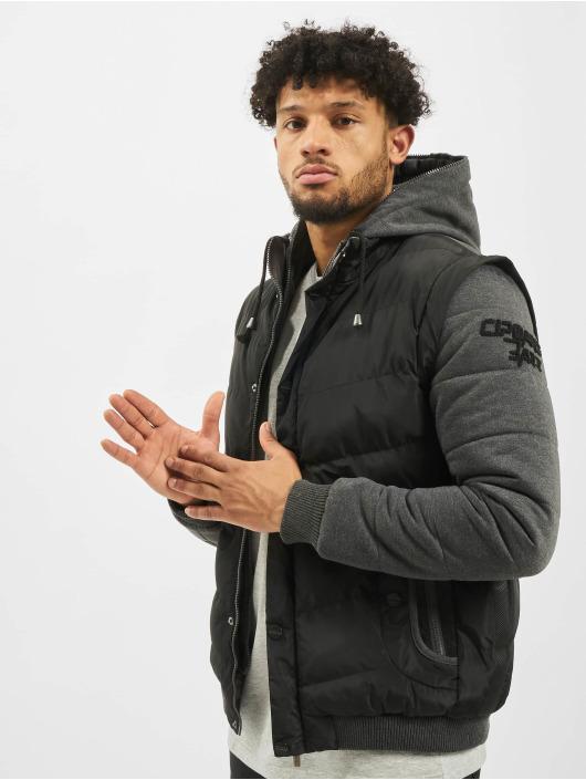 Cipo & Baxx Winterjacke Vest schwarz