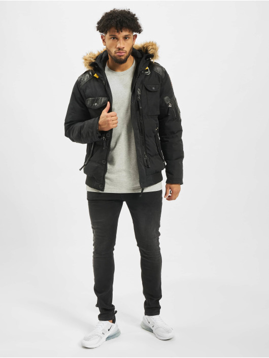 Cipo & Baxx winterjas Vintage zwart