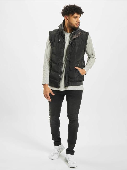 Cipo & Baxx winterjas Vest zwart