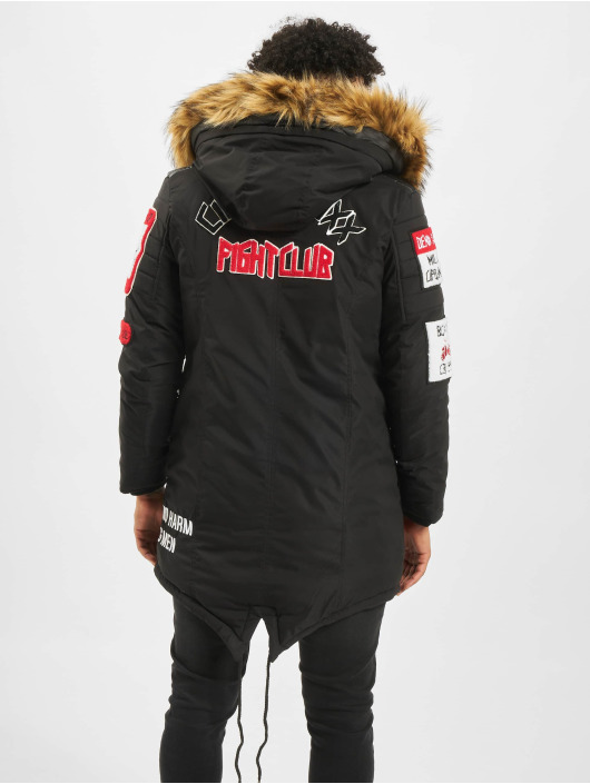 Cipo & Baxx winterjas Fur zwart
