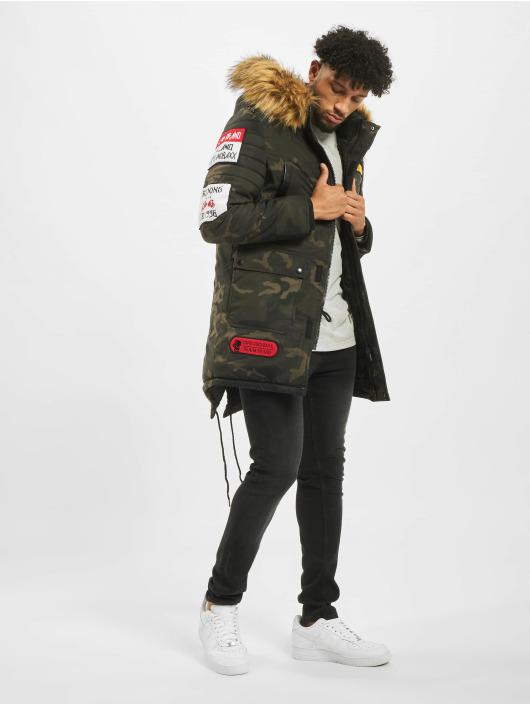 Cipo & Baxx Zimní bundy Fur hnědožlutý