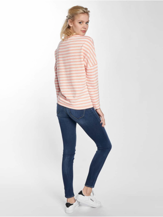 Cleptomanicx Pullover Henni Stripe orange