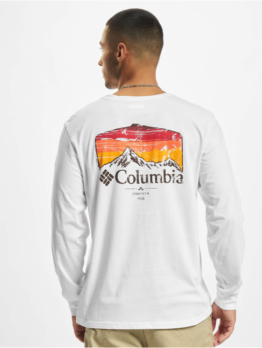 Columbia T-Shirt manches longues Pikewood™ Graphic blanc