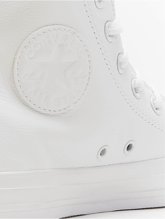 Converse Baskets Chuck Taylor All Star Leather Hi blanc