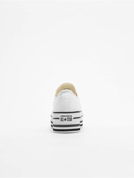 30381149e3553 Converse Baskets Chuck Taylor All Star Platform Layer Ox blanc