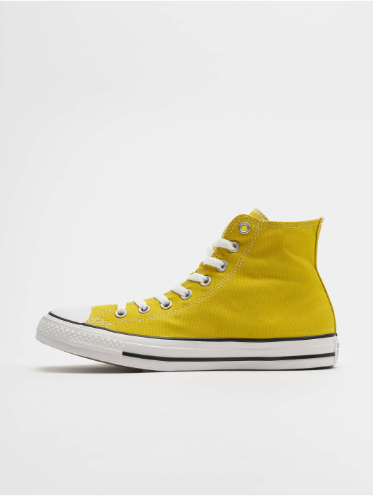 converse montante femme jaune