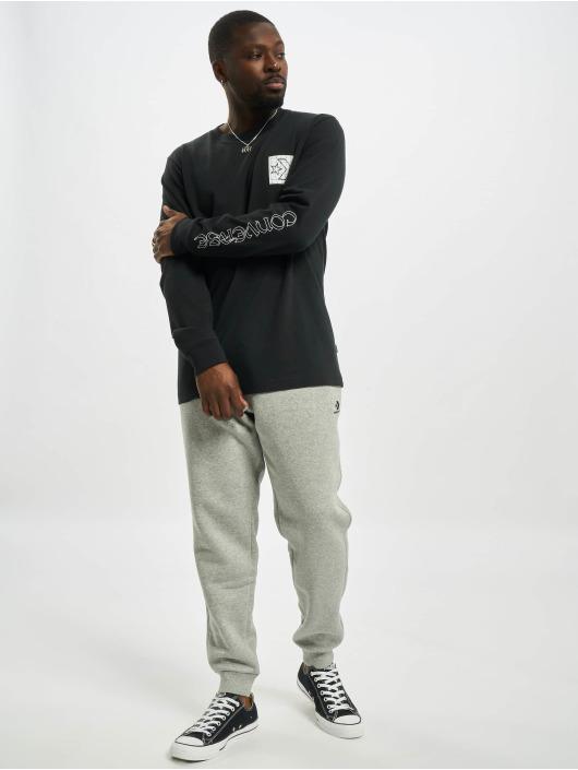 Converse Camiseta de manga larga Distorted Court negro