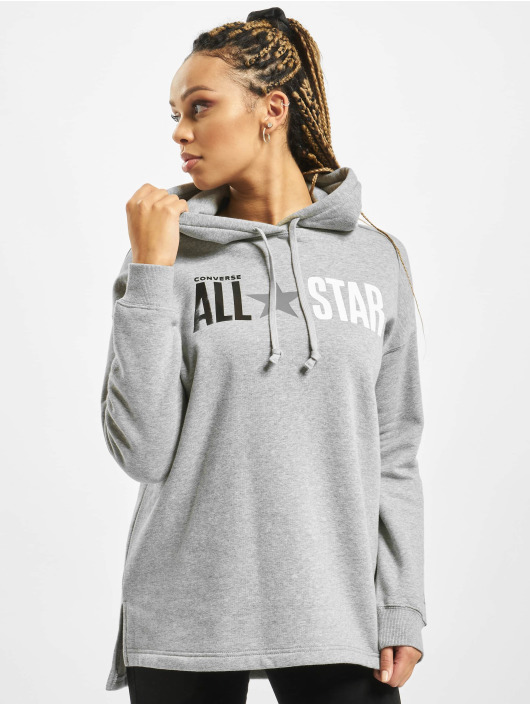 Converse Felpa con cappuccio All Star Fleece grigio