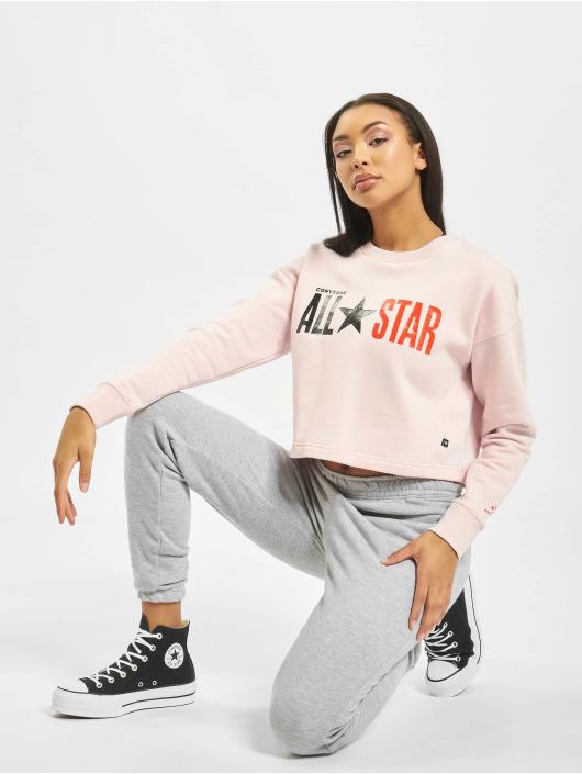 Converse Maglia All Star Fleece Long rosa chiaro