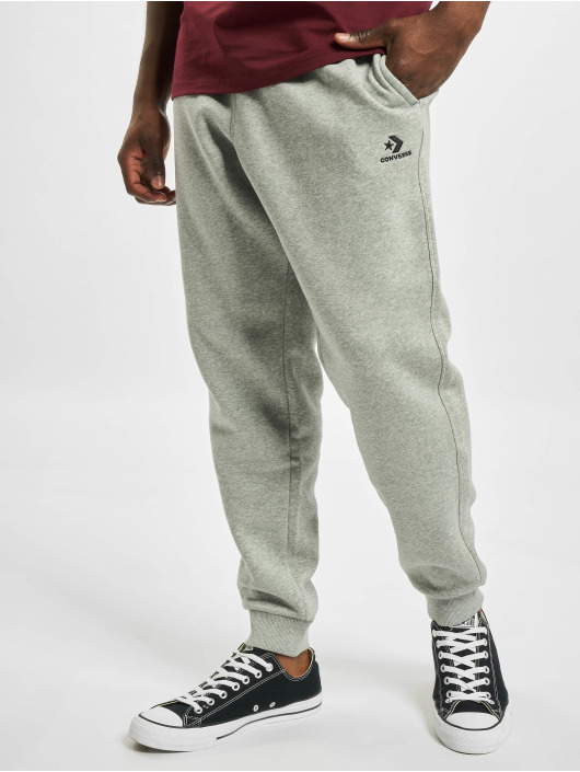 Converse Pantalón deportivo Embroidered SC gris