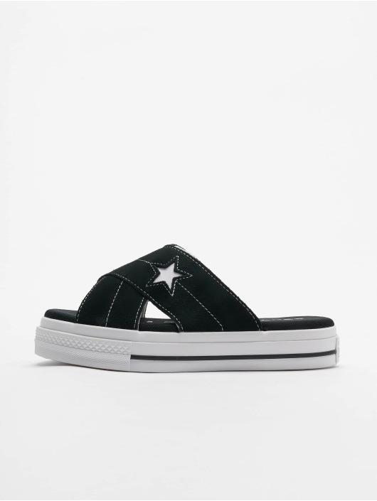 Converse Slipper/Sandaal One Star Slip zwart