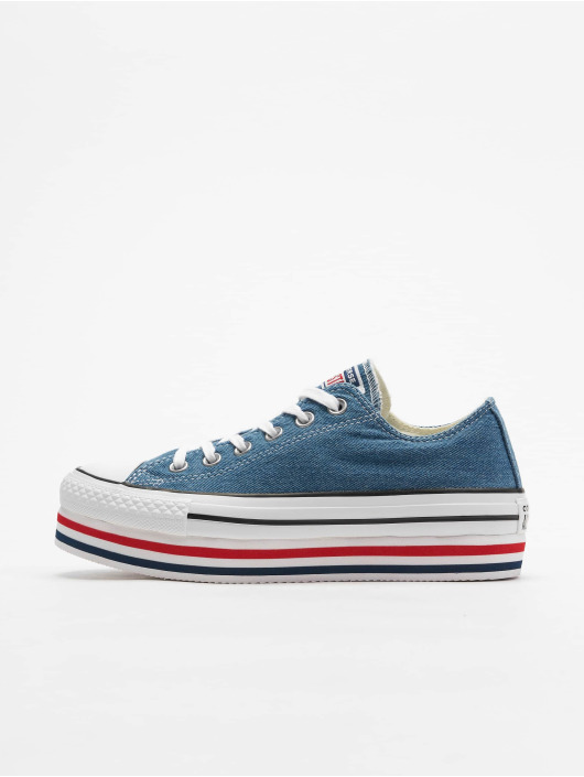 Converse Sneaker Chuck Taylor All Star Platform Layer Ox blau