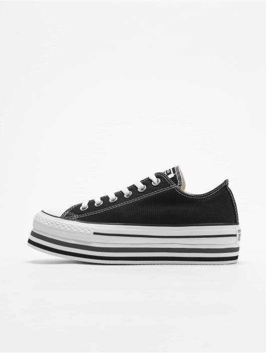 Converse Chuck Taylor All Star Platform Layer Ox Sneakers BlackWhiteThunder