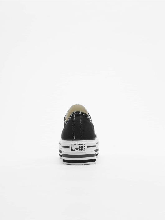 Converse Sneaker Chuck Taylor All Star Platform Layer Ox schwarz