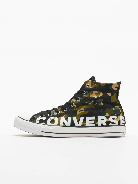 Converse Sneaker Chuck Taylor All Star Wordmark And Camo Print schwarz