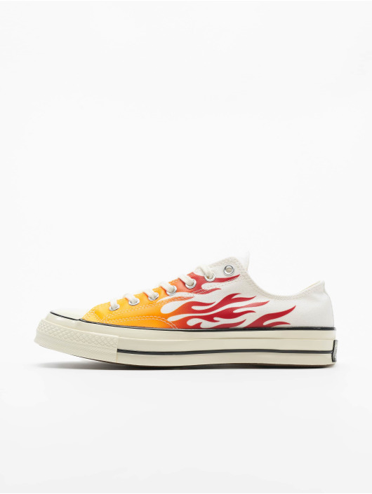 official photos d5572 be462 Converse Chuck 70 Archive Prints Remixed Sneakers White/Enamel Red/Bold  Mandarin