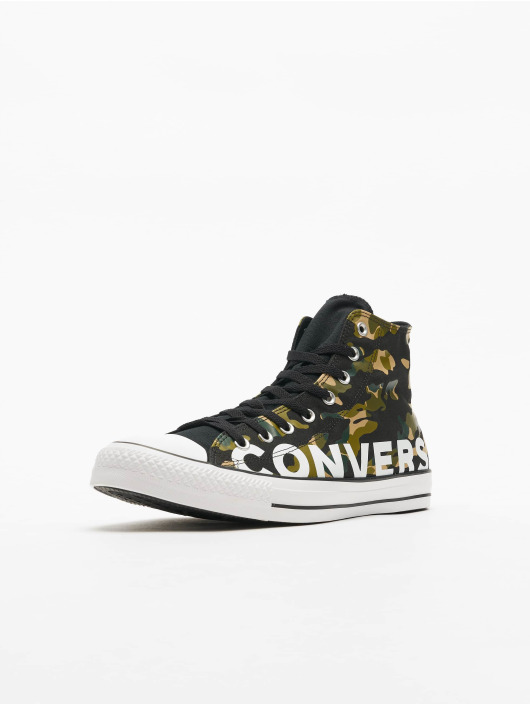 Converse sneaker Chuck Taylor All Star Wordmark And Camo Print zwart