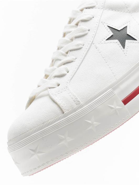 Converse Sneakers One Star Platform Ox biela