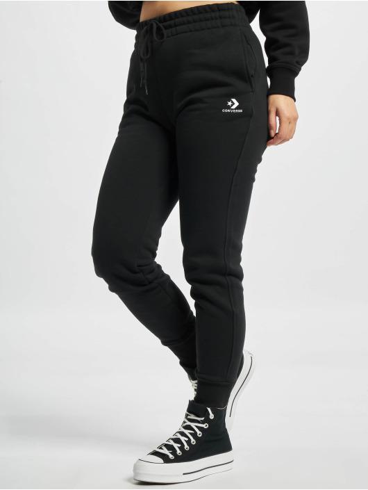 Converse Spodnie do joggingu Embroidered Star Chevr czarny