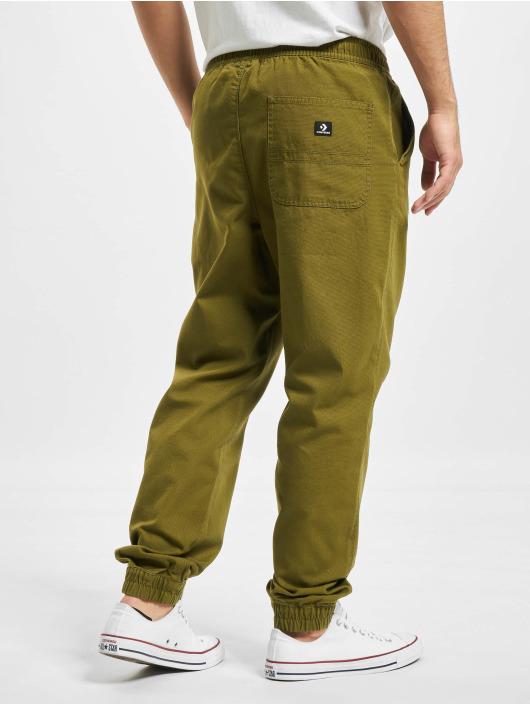 Converse Spodnie do joggingu Go To Jogger oliwkowy