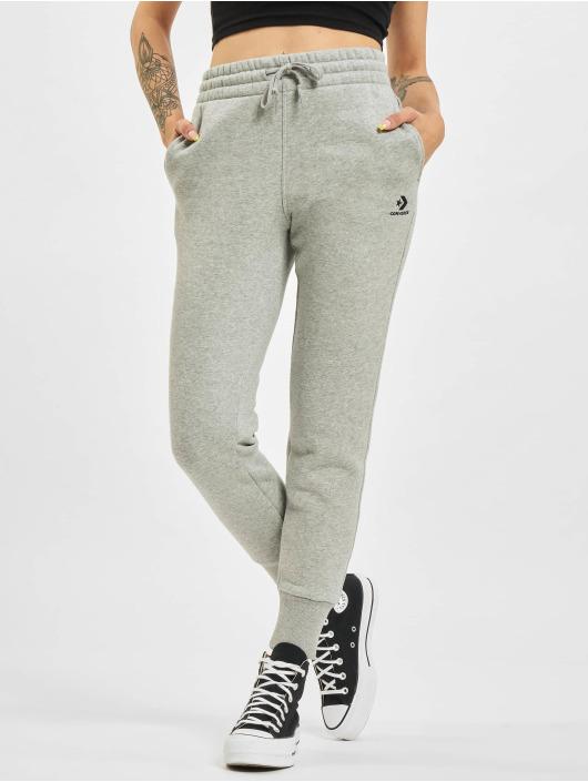 Converse Spodnie do joggingu Embroidered Star Chevr szary