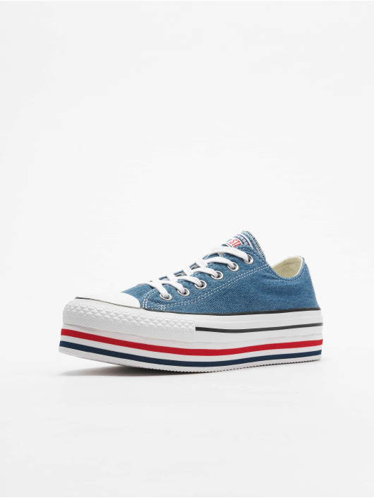 Converse Tøysko Chuck Taylor All Star Platform Layer Ox blå