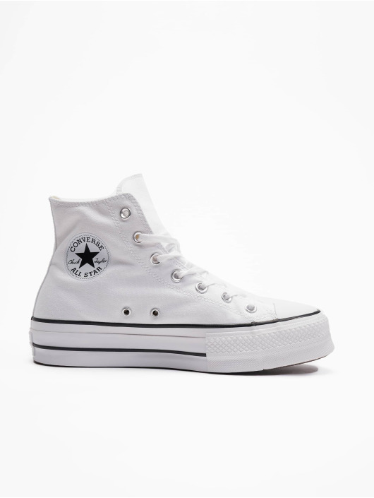 Converse Tøysko Taylor All Star Lift Hi hvit