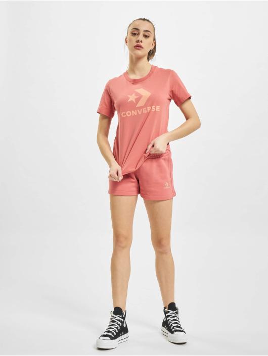 Converse T-paidat Star Chevron Center Front vaaleanpunainen