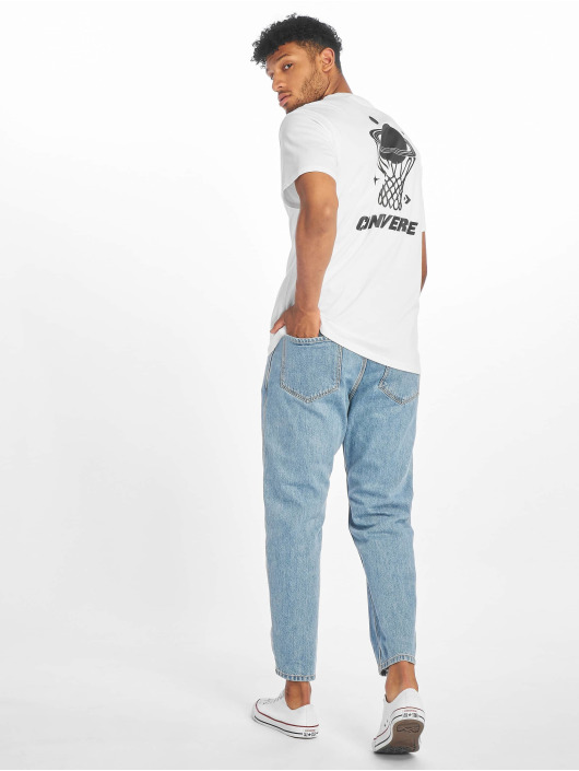 Converse T-shirt Planet Hoop bianco