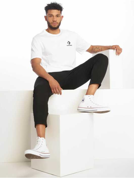Converse T-Shirt Left Chest Star Chevron blanc