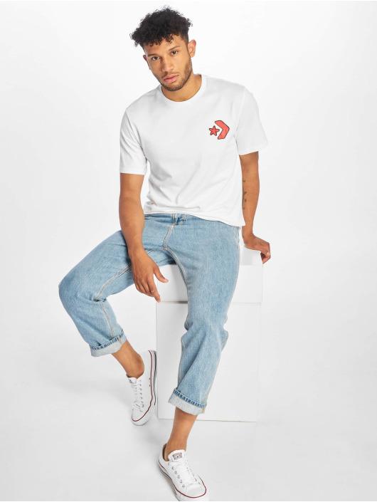 Converse T-Shirt Cartoon Chuck blanc