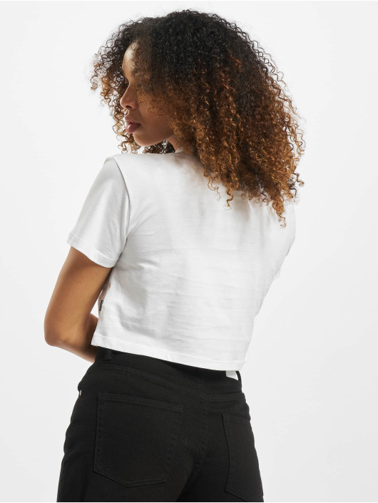 Converse T-Shirt CF Embroidered Wordmark Crop blanc