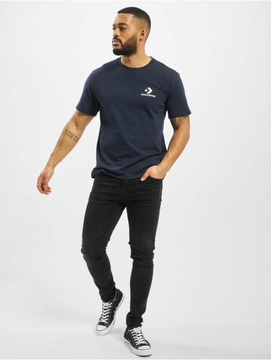 Converse T-Shirt Left Chest Star Chev blau