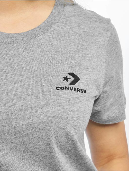 Converse t-shirt Chevron Left Logo grijs