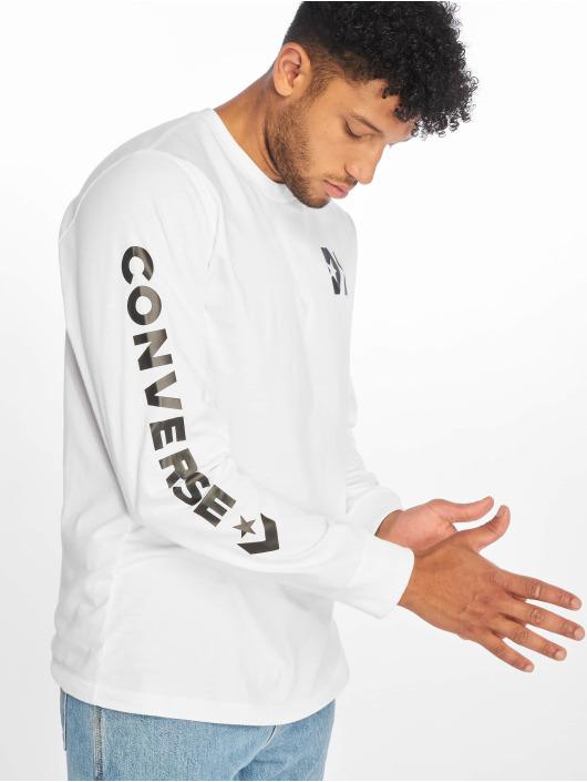 Converse T-Shirt manches longues Wordmark blanc