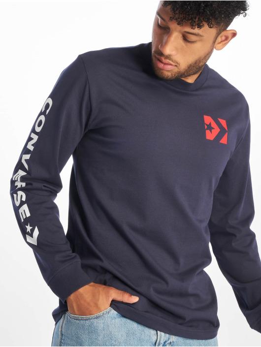 Converse T-Shirt manches longues Wordmark bleu