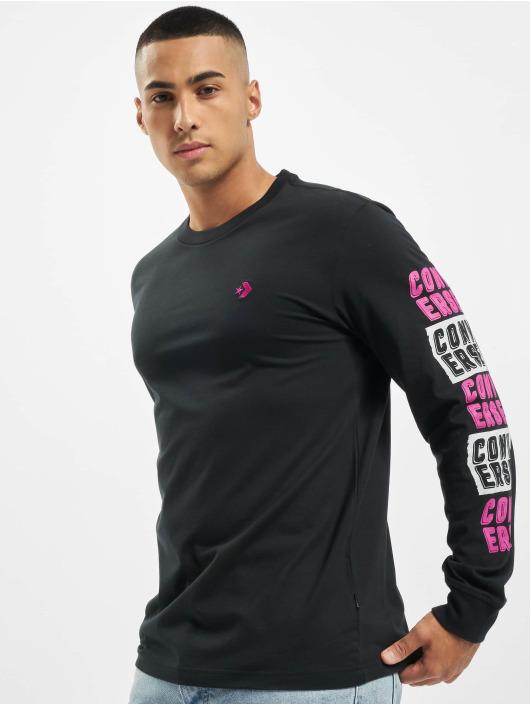 Converse T-Shirt manches longues Fold Out noir