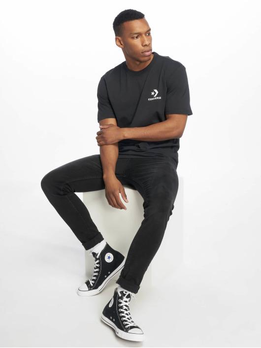 Converse T-Shirt Left Chest Star Chevron schwarz
